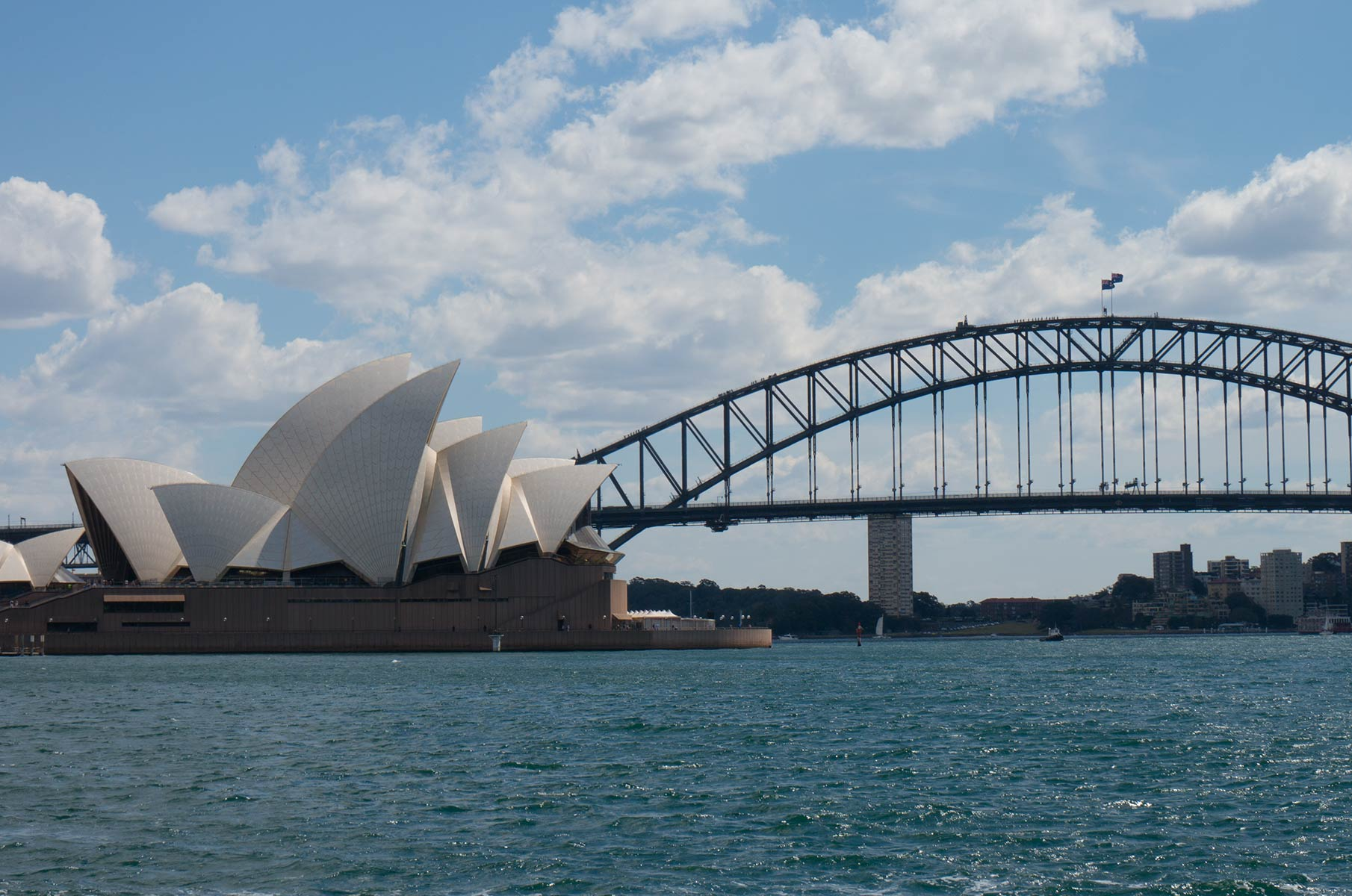 Sydney Opera House Opernhaus und Harbour Bay Bridge, Australien