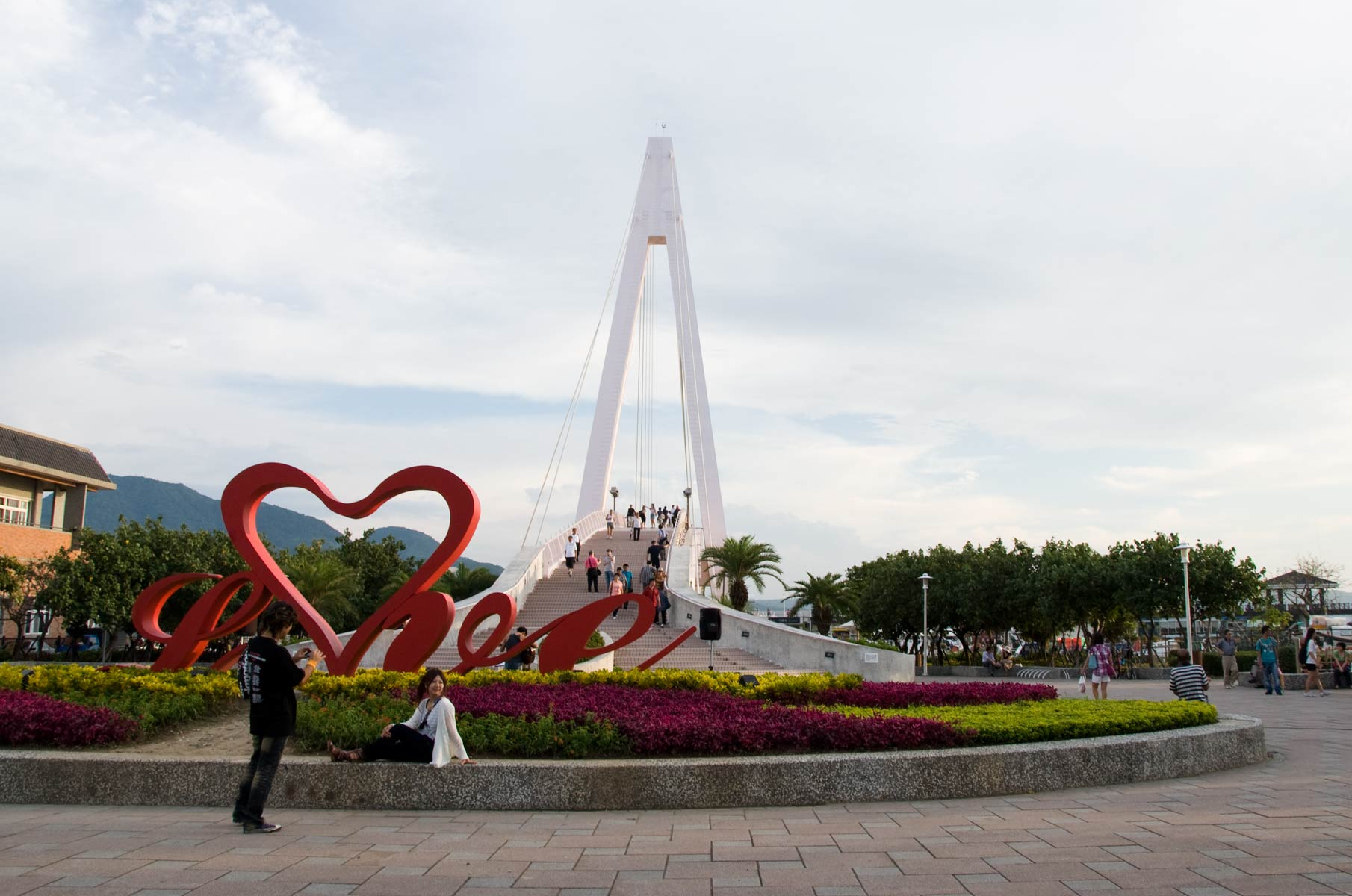 The Lover's Bridge in Danshui im Norden von Taipei, Taiwan