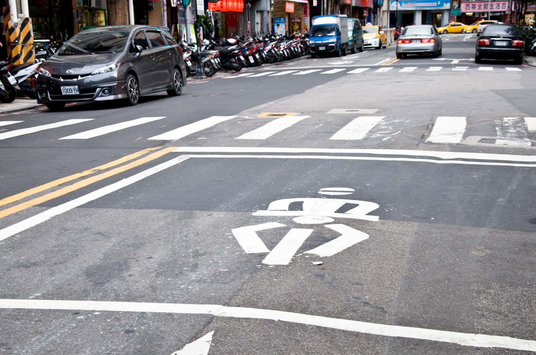 Straße in Taipei, Taiwan