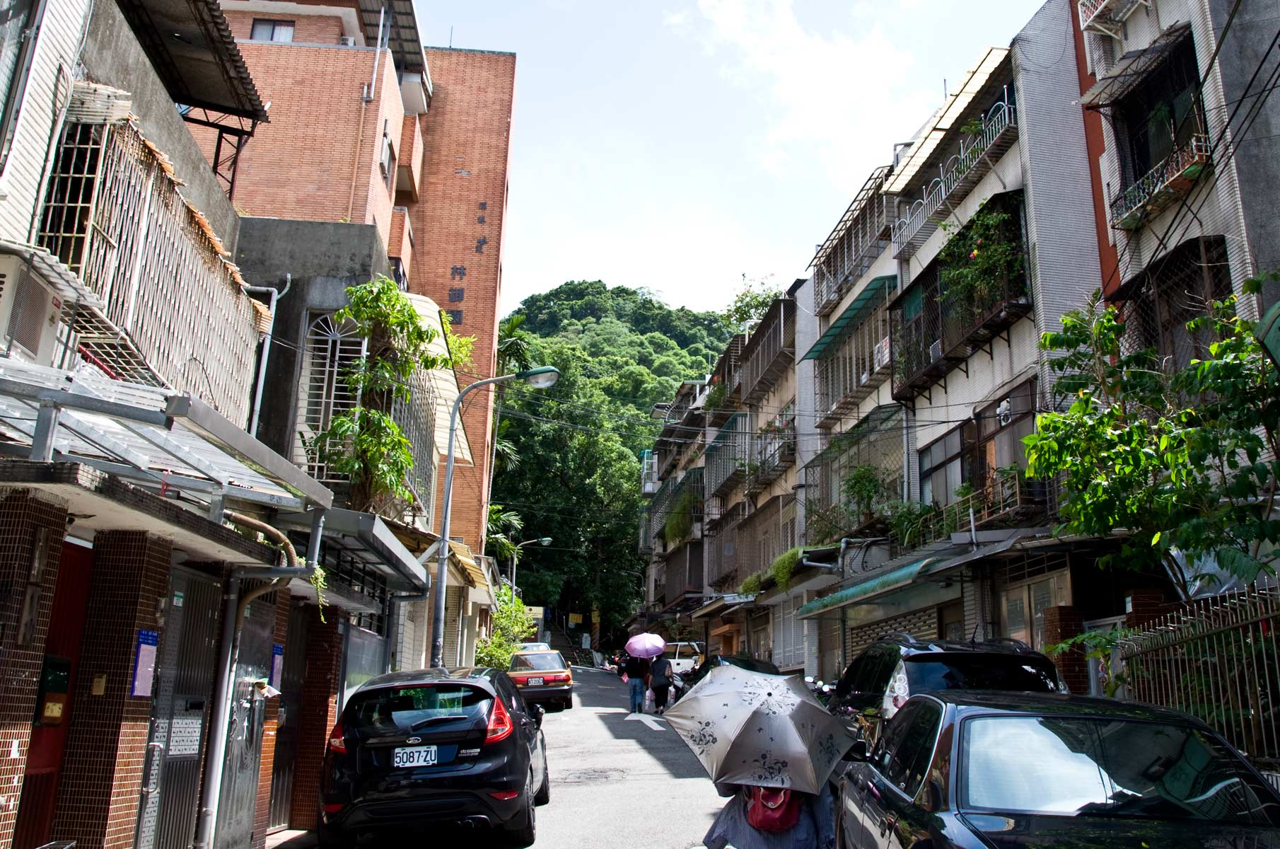 Auf dem Weg zum Elephant Mountain in Taipei, Taiwan