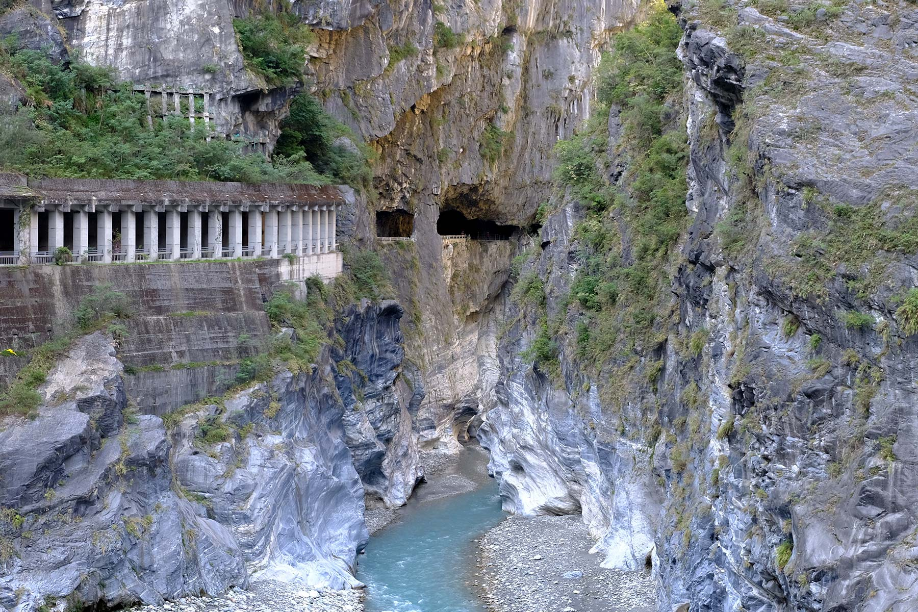 Taroko Schlucht und Tunnel of Nine Turns im Taroko Nationalpark in Taiwan