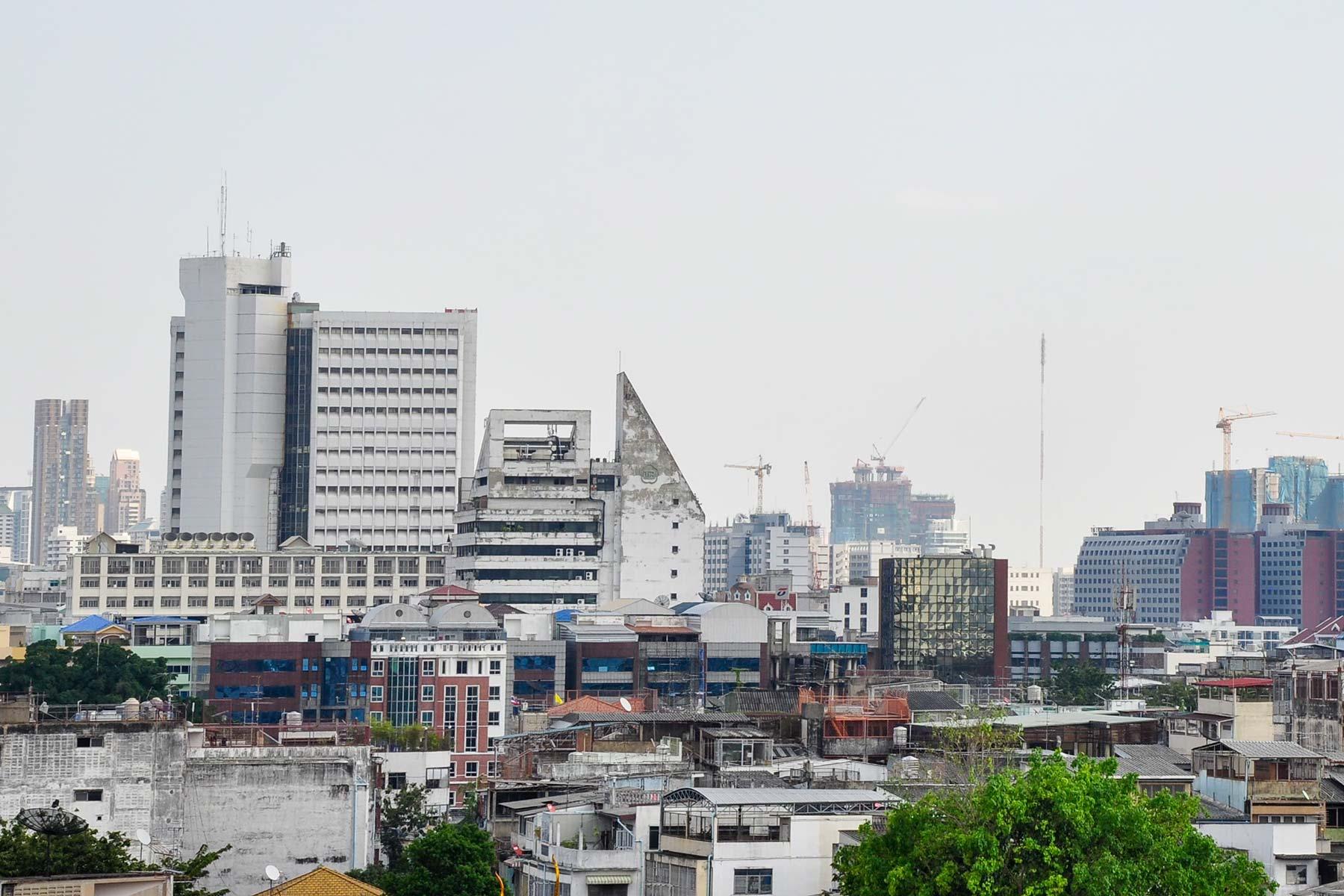Blick vom Wat Saket Tempel in Bangkok, Thailand