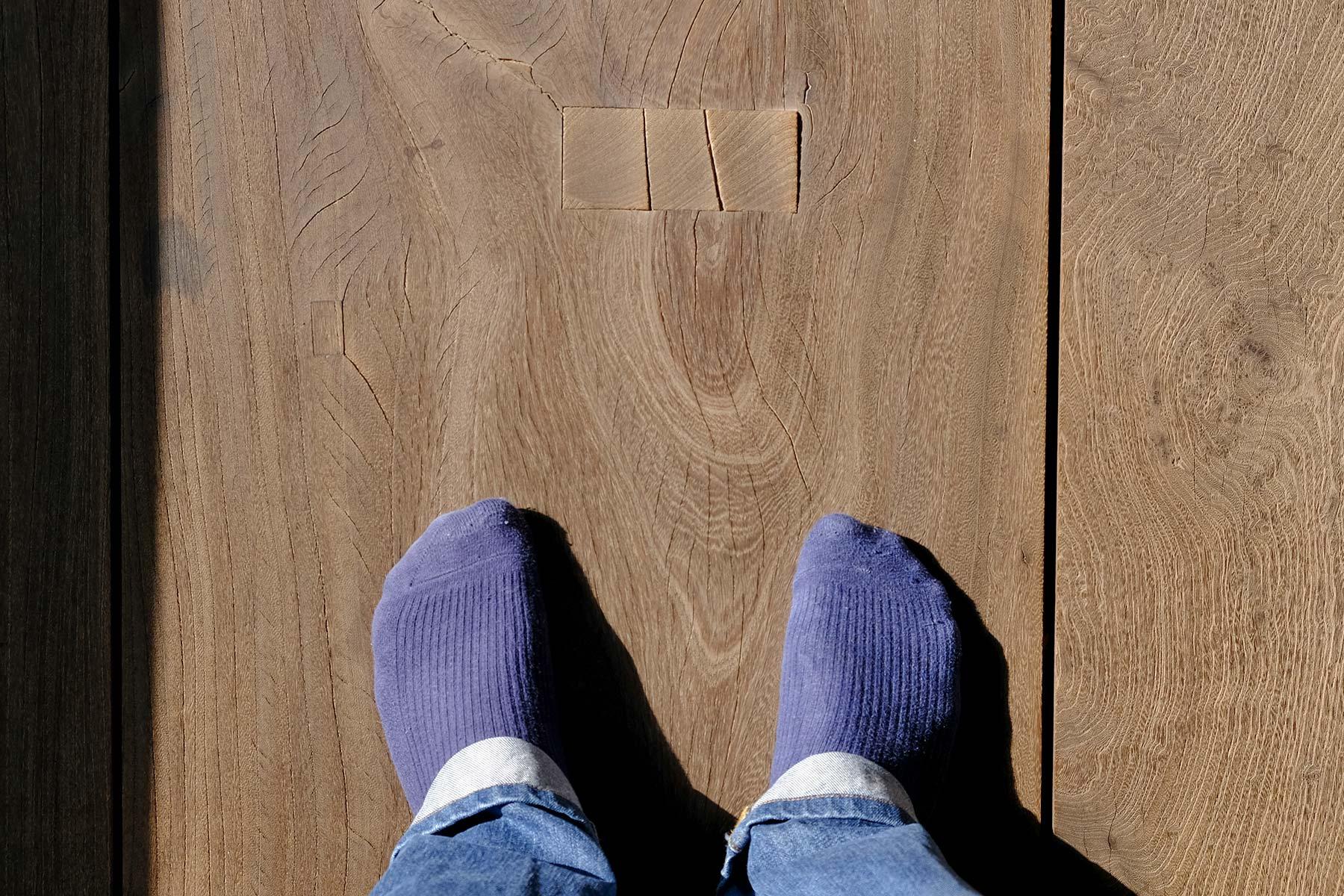 Ohne Schuhe im Shibamata Taishakuten