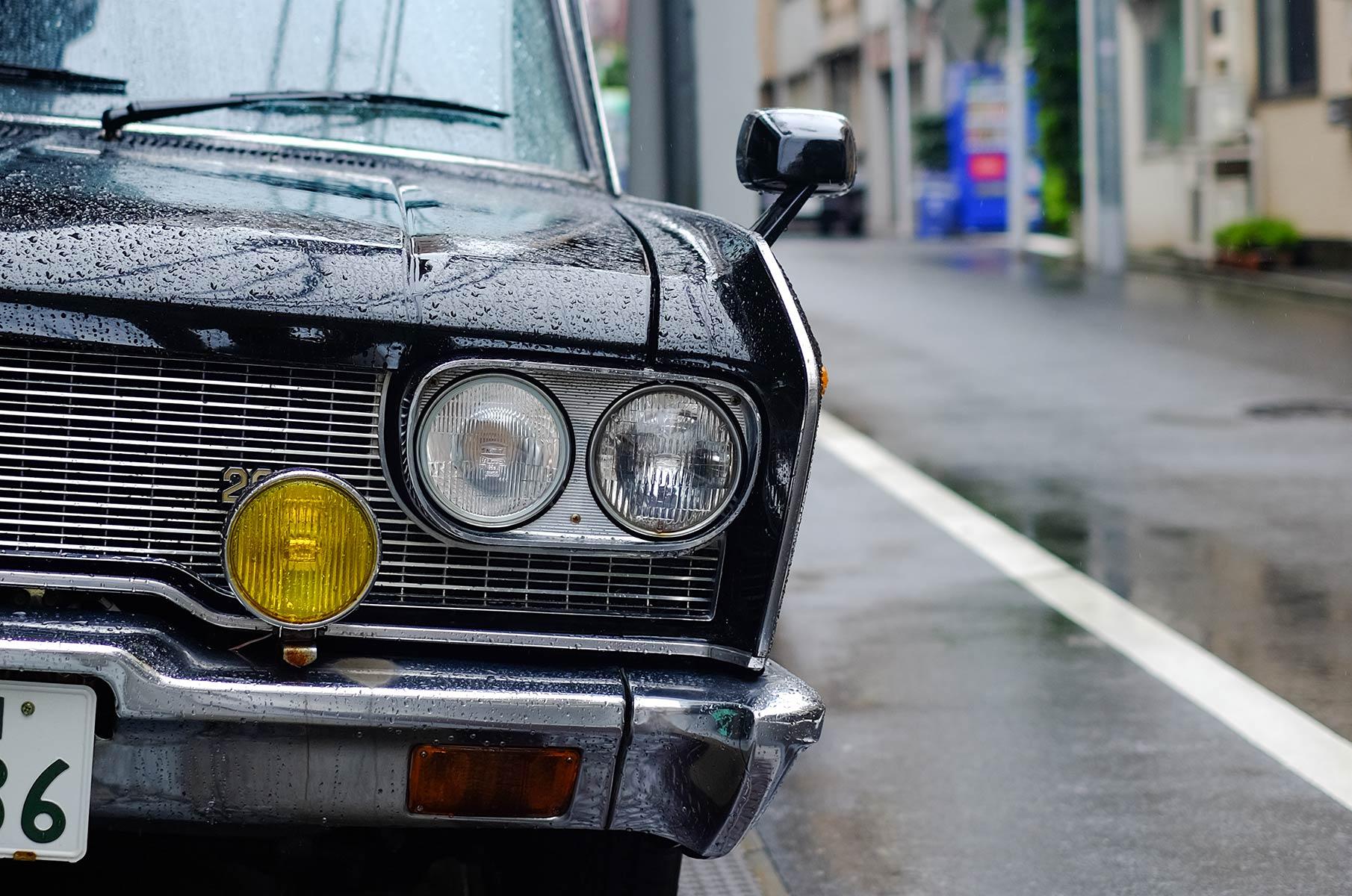 Historischer Toyota Oldtimer in Tokyo, Japan