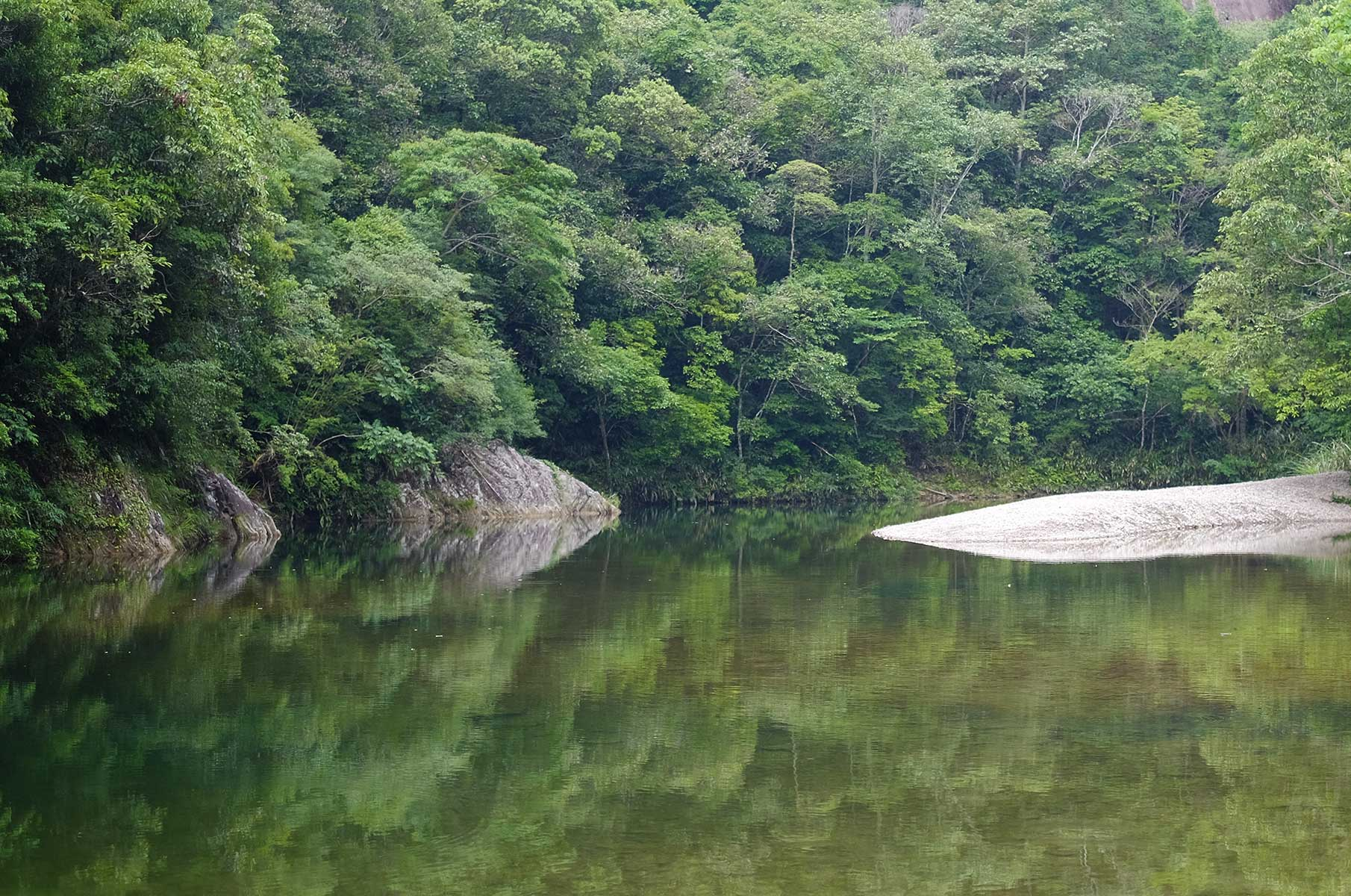 Glasklarer See im Yandang Nationalpark, Wenzhou