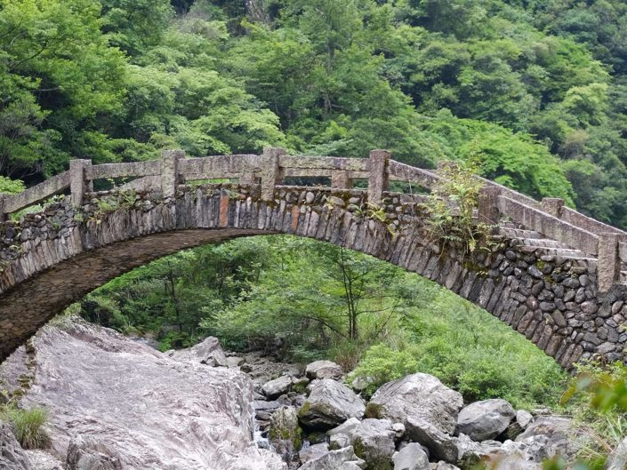 Wandern in den Bergen um Wenzhou