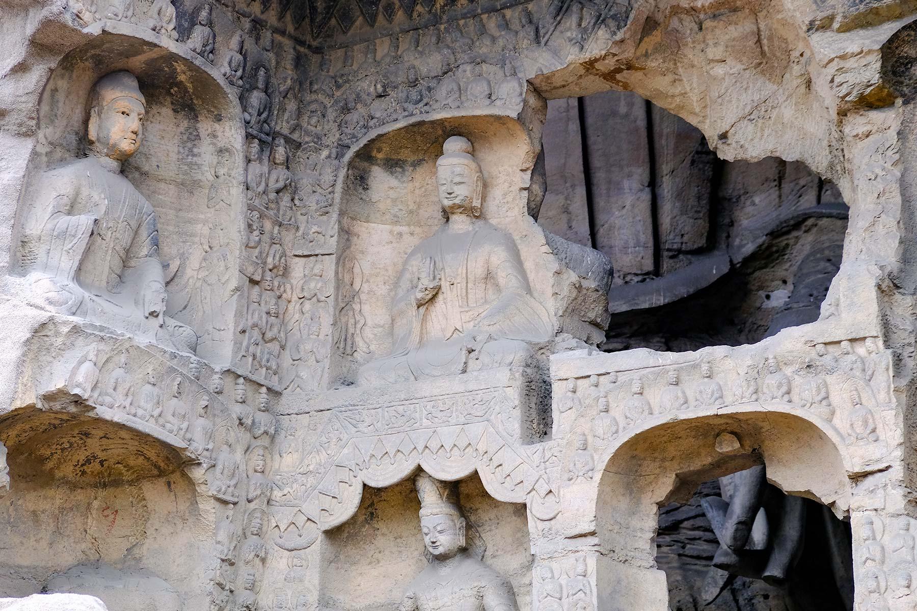 Yungang Grottoes in Datong, China